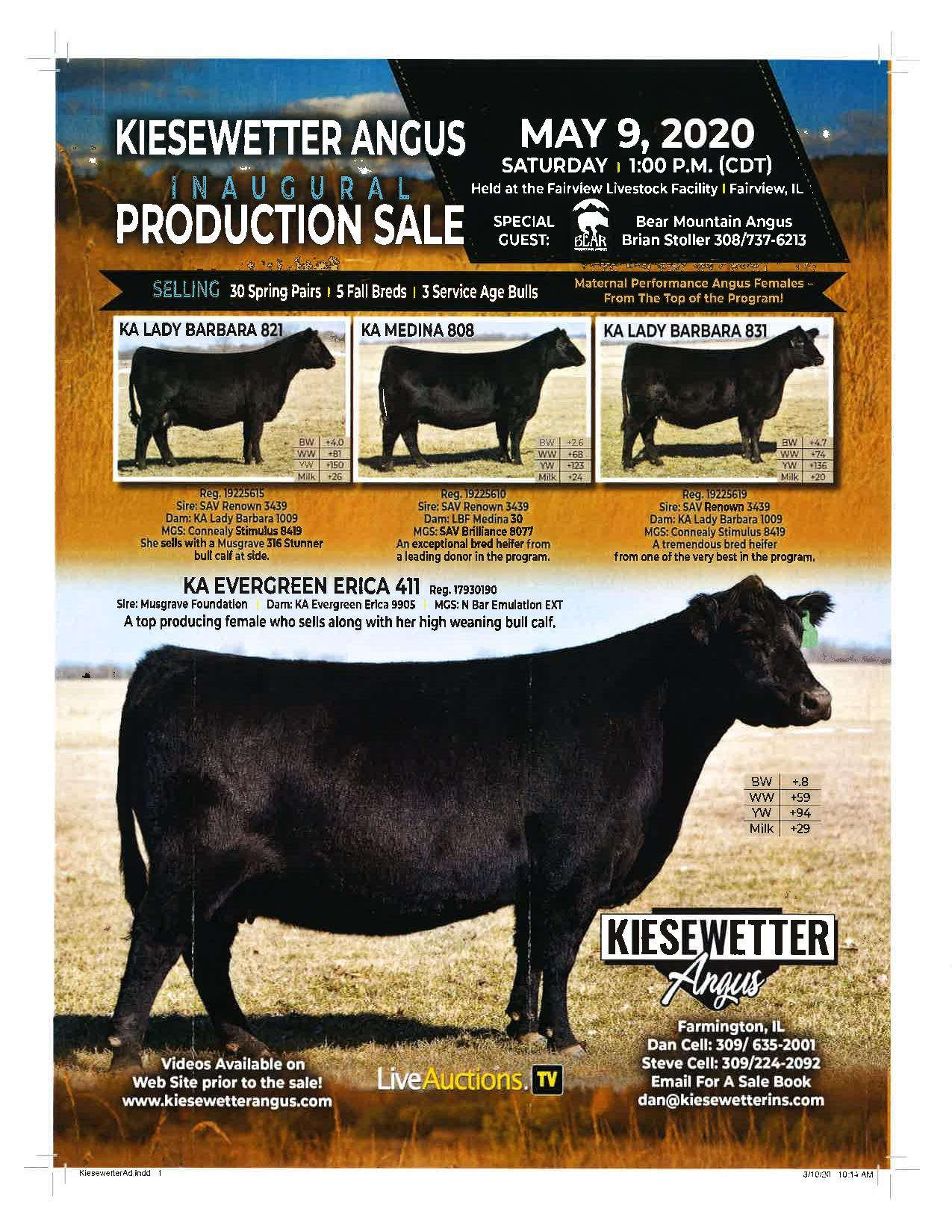 2020 Kiesewetter Angus Inaugural Production Sale